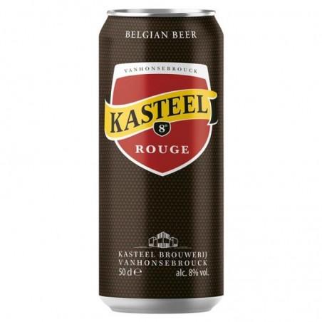 biere - KASTEEL ROUGE 0.50L CAN - Planète Drinks