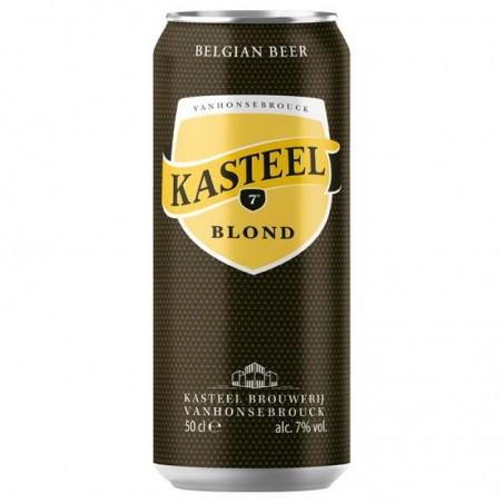 biere - KASTEEL BLOND 0.50L CAN - Planète Drinks