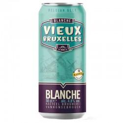 biere - VIEUX BRUXELLES BLANCHE 0.50L CAN - Planète Drinks