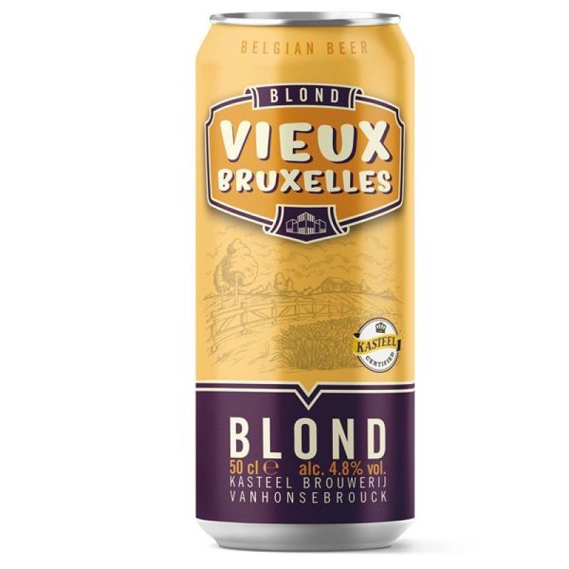 biere - VIEUX BRUXELLES BLONDE 0.50L CAN - Planète Drinks