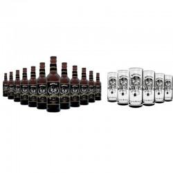 COFFRET BIERE - BOX MOTORHEAD ROADCREW 12 BIERES 33CL + 6 CHOPES MOTORHEAD 50CL - Planète Drinks