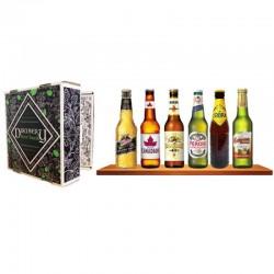 COFFRET BIERE - SELECTION BIERES DU MONDE DISCOVERY BEER BOOK 6*33CL - Planète Drinks