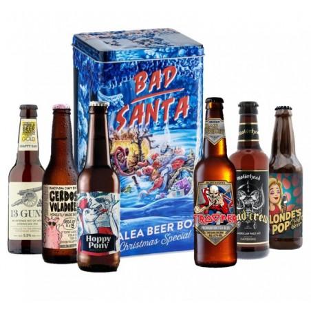 COFFRET BIERE - COFFRET BOITE METAL BAD SANTA X6 BIERES ORIGINALES - Planète Drinks