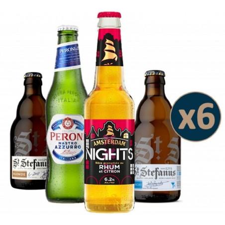 COFFRET BIERE - BOX DECOUVERTE 4 TYPES DE BIERES 6 BOUTEILLES - Planète Drinks