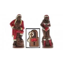 COFFRET CHOCOLATS - BOX CHOCOLAT NOEL COQUIN ( 1 PERE NOEL + 1 MERE NOEL + 1 CADENAS) - Planète Drinks