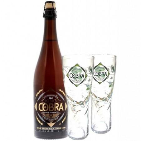 COFFRET BIERE - BOX KING COBRA 0.75L + 2 VERRES - Planète Drinks
