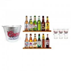 COFFRET BIERE - BOX 12 BIERES DU MONDES + ACCESSOIRES COORS LIGHT - Planète Drinks
