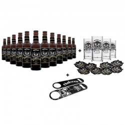 COFFRET BIERE - MOTORHEAD ROAD CREW 12 BIERES + 4 VERRES + DECAPSULEUR + SOUS BOCK - Planète Drinks
