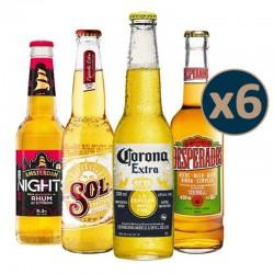 COFFRET BIERE - BOX DECOUVERTE 4*6 BOUTEILLES DE TYPE LAGER - Planète Drinks