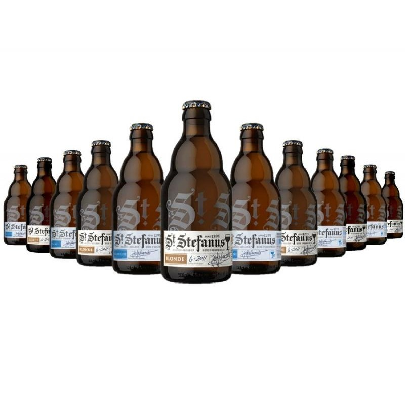 COFFRET BIERE - BOX DECOUVERTE ST STEFANUS BRASSERIE BELGE 12 BOUTEILLES - Planète Drinks