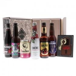 COFFRET BIERE - BOX SAINT-VALENTIN ROMANTIQUE 6 BOUTEILLES + COFFRET CHOCOLAT - Planète Drinks