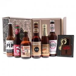 COFFRET BIERE - BOX SAINT-VALENTIN COQUINE 6 BOUTEILLES + COFFRET CHOCOLAT - Planète Drinks
