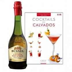 COFFRET ALCOOL - BUSNEL CALVADOS 2 ANS 70CL + 1 LIVRE COCKTAIL - Planète Drinks