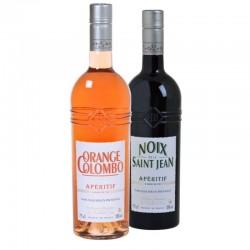COFFRET ALCOOL - BOX APERITIFS DE PROVENCE 2*75CL-NOIX SAINT JEAN+ORANGE COLOMBO - Planète Drinks