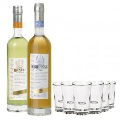 COFFRET ALCOOL - BOX DECOUVERTE LIQUEURS DE PROVENCE 2*50CL +6VERRES - Planète Drinks