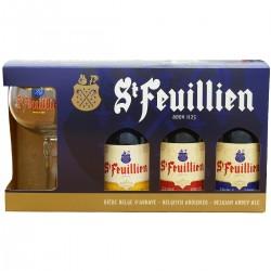 COFFRET - COFFRET ST-FEUILLIEN 3*33CL + 1 VERRE - Planète Drinks