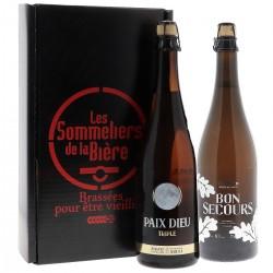 COFFRET SOMMELIER BON SECOURS BLONDE/PAIX DIEU 2X75 CL